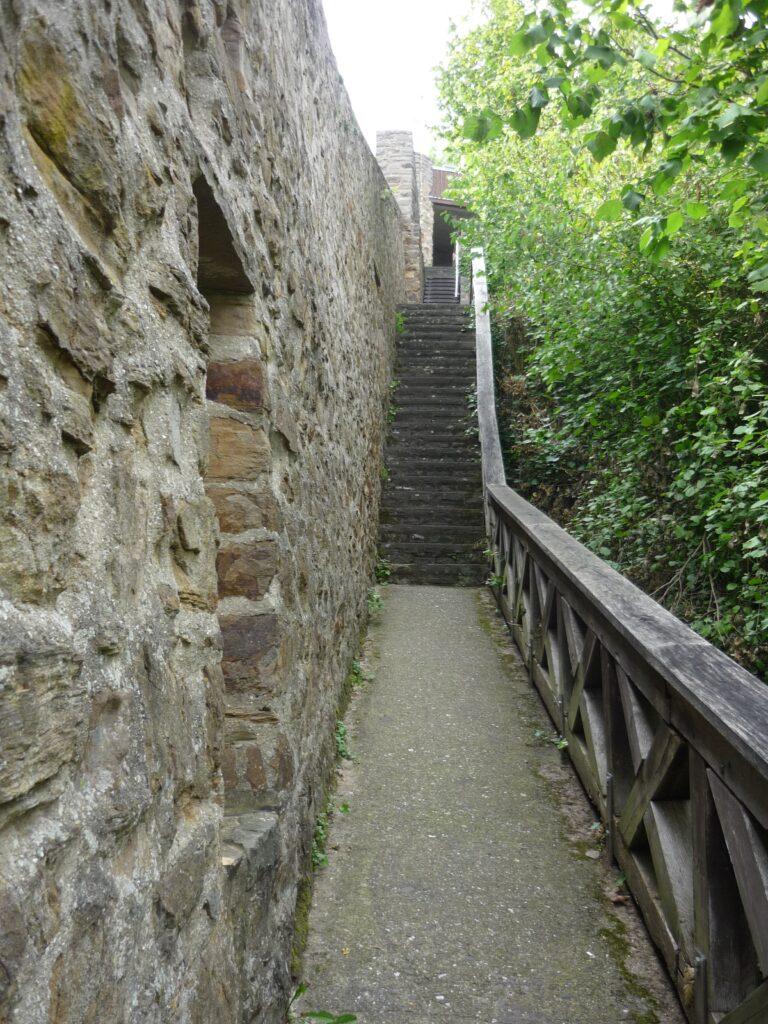 Walkway on top of Bad Münstereifel city wall, Germany