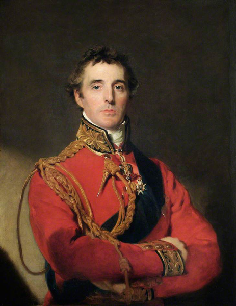 Formal portrait of Sir Arthur Wellesley, the Duke of Wellington, who invented rain boots.