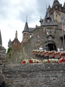Cochem castle with flower boxes