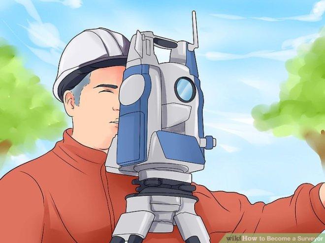 cartoon image of a surveyor