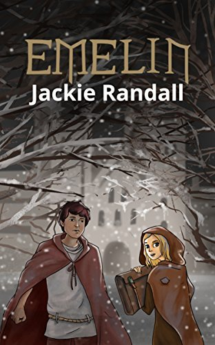 Book cover for EMELIN with boy and girl in monks' robes against a dark snowy monastery