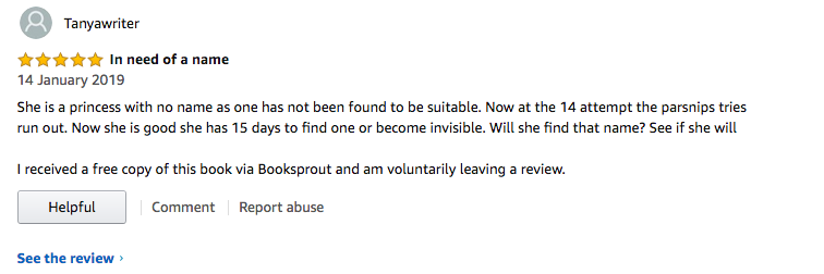 5 star review from Amazon.co.uk