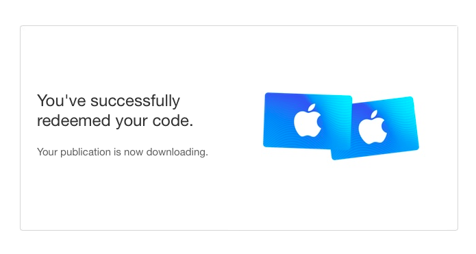 """Screenshot of """"successfully redeemed your code"""""""