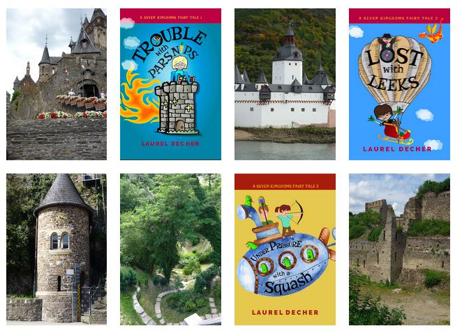 castles and bookcovers for the Seven Kingdoms Fairy Tales