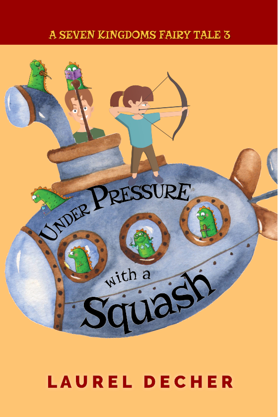 Under Pressure With a Squash cover image shows twins and baby dragons on a submarine