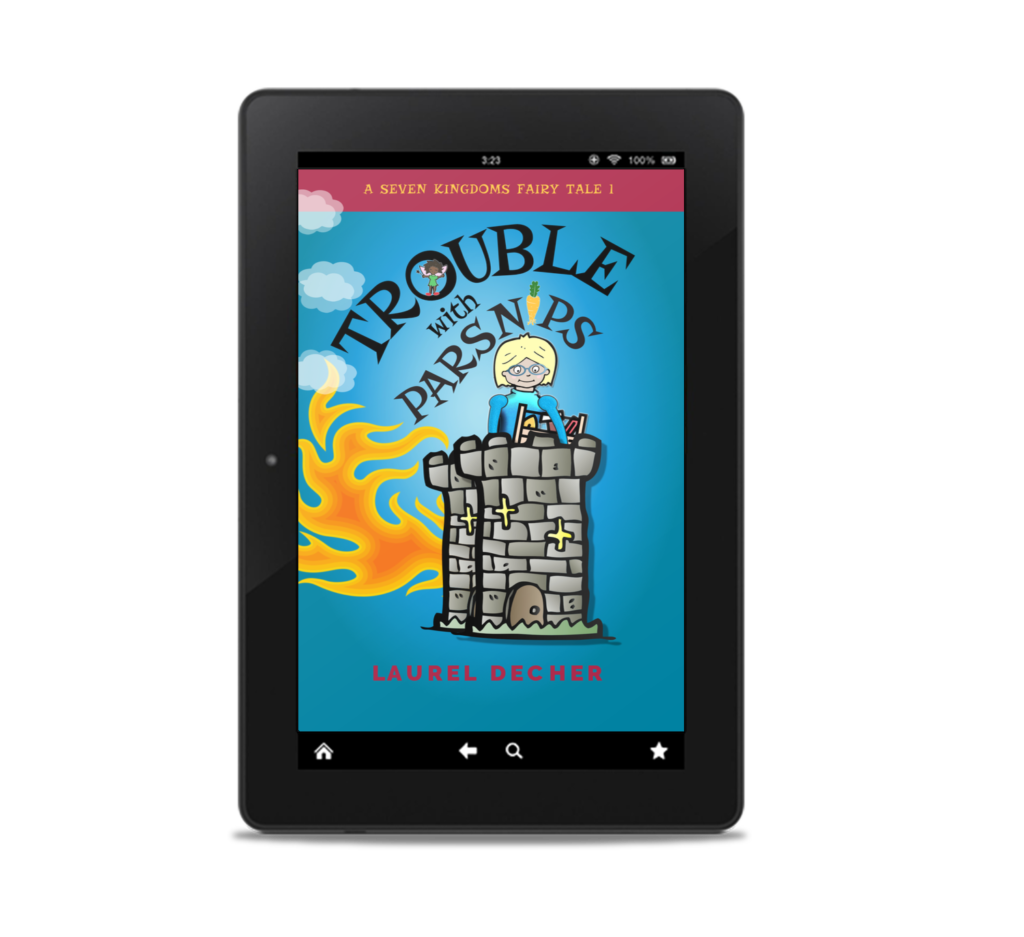 PARSNIPS book cover on tablet