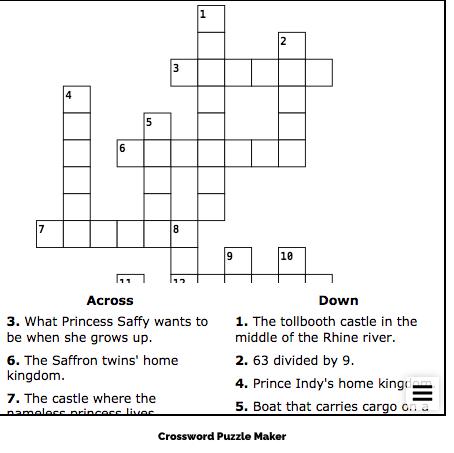image of crossword puzzle